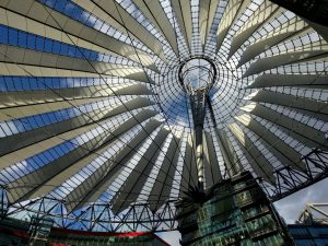 Glasüberdachung des Sony-Centers am Potsdamer Platz